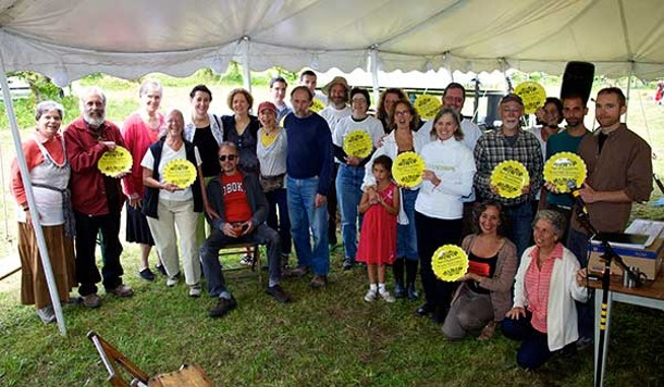 Recipients of Transition Marbletown's Signs of Sustainability awards at the Common Ground Celebration on 9/15.