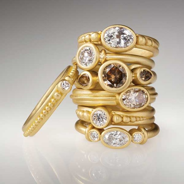 Rings by Denise Betesh from Hummingbird Jewelers in Rhinebeck