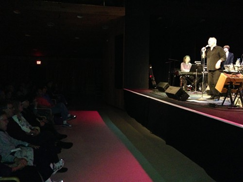 Robbie Dupree sings to the Woodstock audience at Bearsville Theater