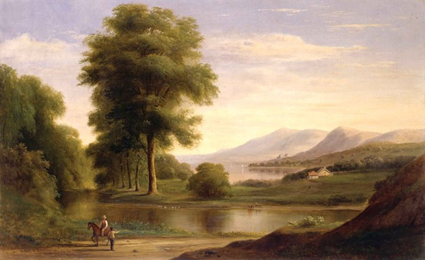 Robert S. Duncanson, untitled, oil on canvas, 18.5″ × 31.5″, 1861. - COURTESY OF MICHAEL ROSENFELD GALLERY