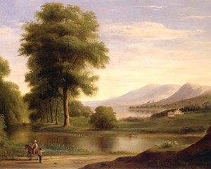 Robert S. Duncanson, untitled, oil on canvas, 18.5″ × 31.5″, 1861.