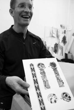 Robert Sabuda with an illustration sheet from The Jungle Book. - JENNIFER MAY