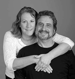 Sandi Schwartz and Bennet Neiman. (In our August issue, Neiman took out an ad proposing to Schwartz. She said yes!) - Photo by Robert Hansen-Sturm.