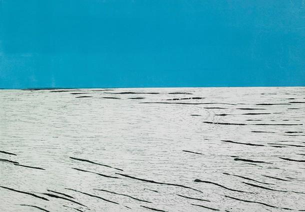 Santa Monica Blues, Ruth Wetzel, monotype and woodcut, 22″ × 31″, 2007.