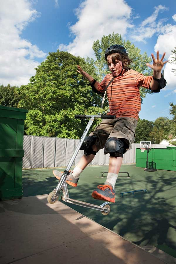 Satch Waldman at Woodstock Youth Center Skate Park.