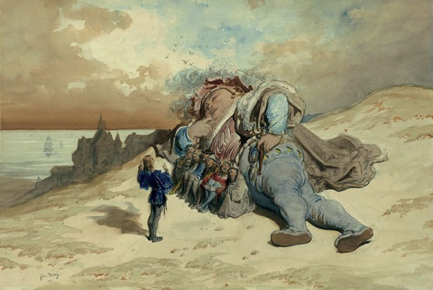 "Scene from ""Gargantua"" by Gustave DorÉ is part of the ""Catching Light"" exhibit that opens on may 8 at the Frances Lehman Loeb Art Center at Vassar College."