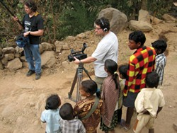 Seth Kramer films and Daniel A. Miller records sound in a Sora-speaking village in India.