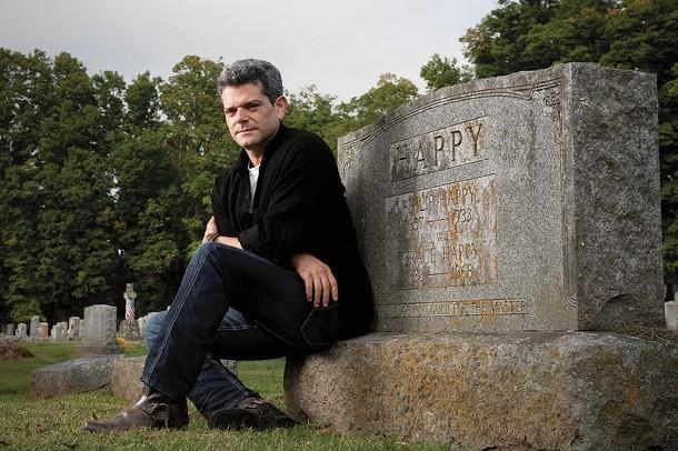 Shalom Auslander in the Woodstock Artists' Cemetery. - JENNIFER MAY