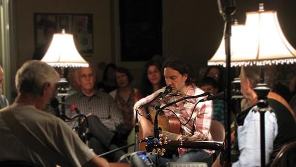 Singer-songwriter Brian Dolzani performs at John Street Jam in Saugerties on May 11.