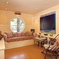 A Craftsman's Home in Rosendale Sitting room with two paintings by Vis. Deborah DeGraffenreid