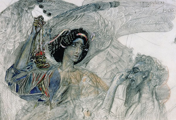 Six-Winged Seraph (detail), Mikhail Vrubel, 1905. - COURTESY OF PUSHKIN MUSEUM AND THE BRIDGEMAN LIBRARY.