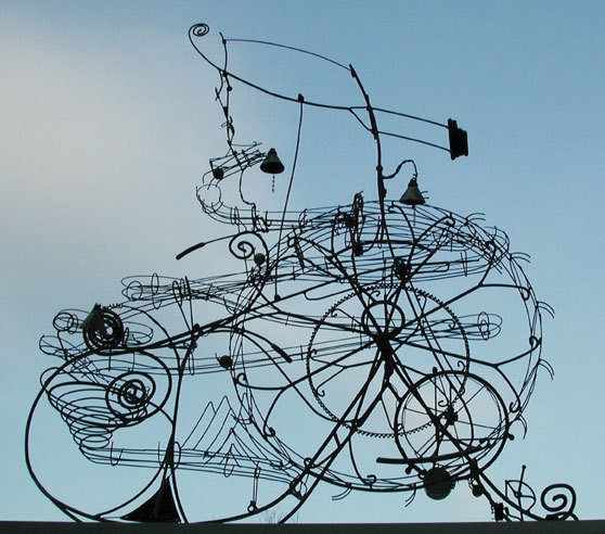 Snatch Snail, steel with glass marbles, 2004.