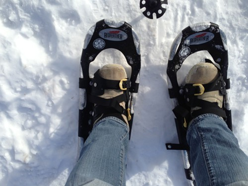 Snowshoes provided by Overlook Mountain Bikes