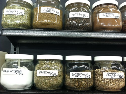 Spices and Herbs for Sale at Mother Earths