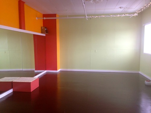 Steamy studio at Hot Spot Yoga in Kingston