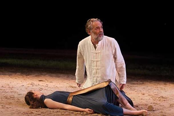 "Stephen Paul Johnson as King Lear in the Hudson Valley Shakespeare Festival's production of ""King Lear"" at Boscobel in Garrison."