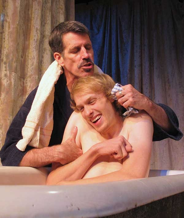 """Steven Patterson and Samuel Hoeksema in Brian Fraser's """"Kill Me Now,"""" which will be staged this month in Hudson."""