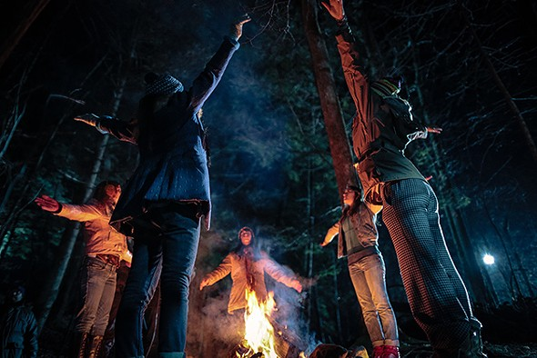 """Still from """"Sisterhood of the Night"""", with scenes filmed at Black Creek Forest Preserve in Esopus"""