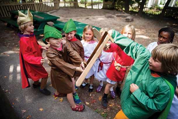 Students participating in the Games of Courage at Mountain Laurel Waldorf School in New Paltz. - STEFFEN THALEMANN