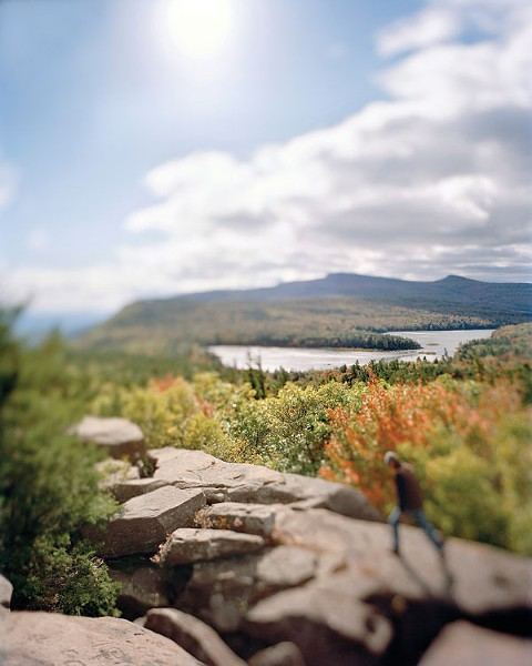 """Sunset Rock, North Mountain"" by Susan Wides, chromogenic print, 50"" x 40"", 2007."