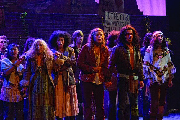 """The 2011 production of """"Hair"""" at the Woodstock Playhouse. - MATTHEW WRIGHT OF FIG TREE PHOTOGRAPHY"""