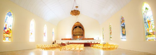 The 4,000-square-foot Celebration Chapel is a nondenominational space for weddings in Kingston. Photo: Paul Joffe. - ION ZUPCU