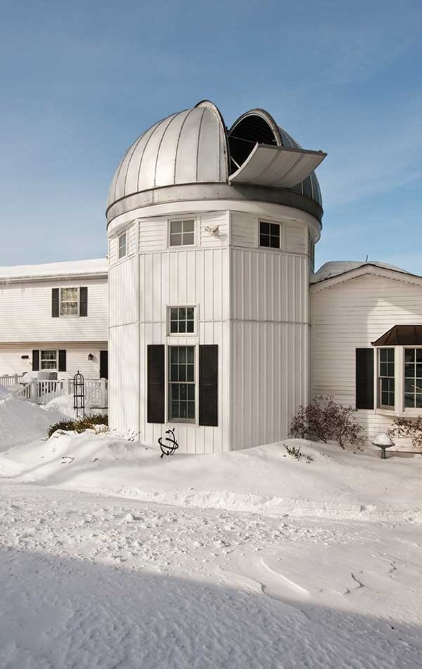 The Antols built an addition onto their home that is topped by an astronomical observatory. - DEBORAH DEGRAFFENREID