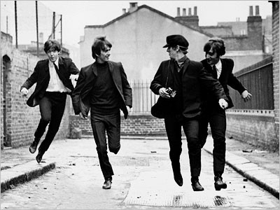The Beatles in A Hard Days Night.