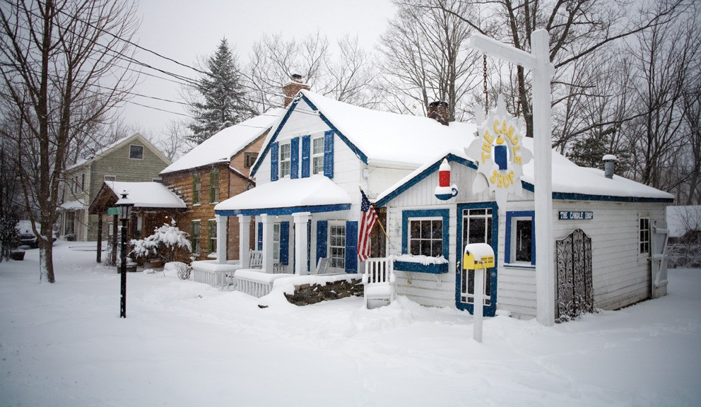 The Candle Shop, one of a number of shops in the artisan's hamlet of Sugar Loaf. - NICK ZUNGOLI