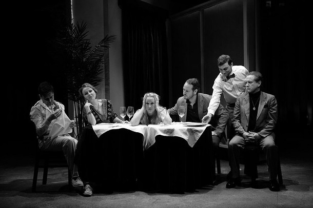 """The cast from Christopher Durang's """"Beyond Therapy,"""" directed by Alex Timbers, which was staged at the Williamstown Theater Festival in June. - CHARLES  ERICKSON"""