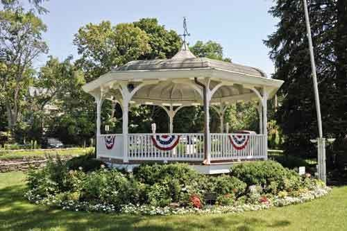 The Centennial Village Bandstand - in Cornwall-on-Hudson.