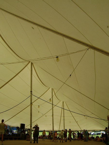 The dance tent on Saturday afternoon. - RACHEL CAREY