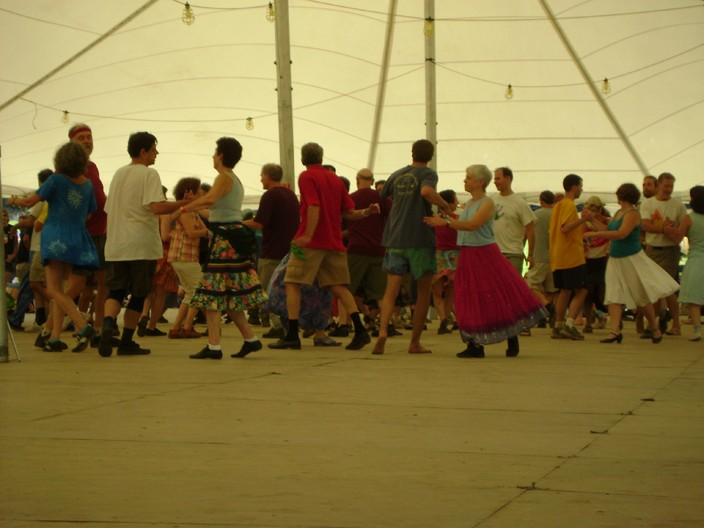 The Dance Tent was one of the most popular events at the festival. - RACHEL CAREY