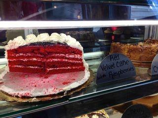 The dessert case at Brios