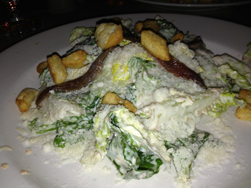 The dreamy creamy Caesar salad at Reginato Ristorante
