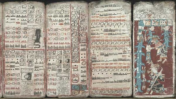 The Dresden Codex, an 11th-century Mayan book.