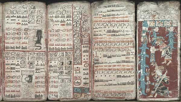 The Dresden Codex, an 11th-century Mayan book.