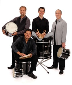 CAROL ROSEGG - The Ethos Percussion Group performs at Vassar College on March 23.