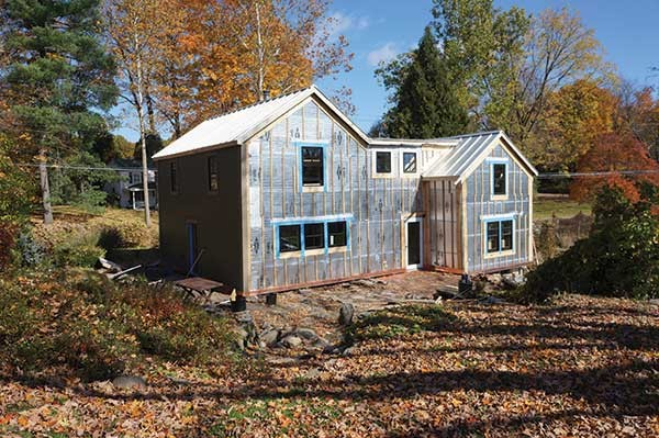 The first house in Verdae, LLC's Deep Energy Retrofit project ready for siding. A workshop on how to retrofit your home will be held in Rosendale on January 12. - IMAGE PROVIDED