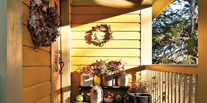 A Craftsman's Home in Rosendale The front porch of the Vis home. Deborah DeGraffenreid