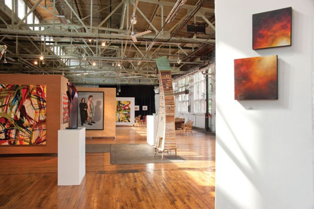 The gallery at the newly opened - Saugerties Performing Arts Center.