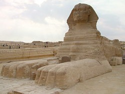The Great Sphinx of Giza, near Cairo, Egypt.