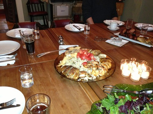 The Groaning Table at Duo Bistro in Uptown Kingston