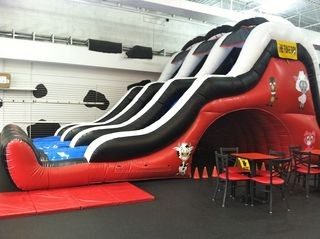 The Huge Bouncy Slide at Fun-E Farm