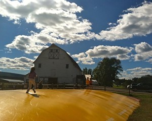 The Jumping Pillow at Kelder's Farm opens in late April weather permitting