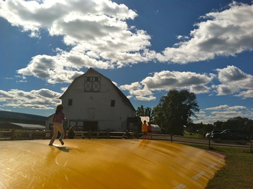 The Jumping Pillow at Kelders Farm opens in late April weather permitting