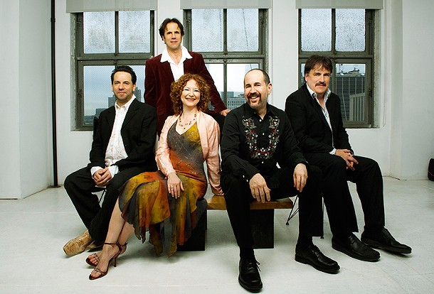 The Klezmatics, (l-r): Frank London, Lisa Gutkin, Lorin Sklamberg, Matt Darriau, Paul Morrissett. - JOSHUA KESSLER