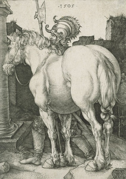 The Large Horse; engraving; 1505