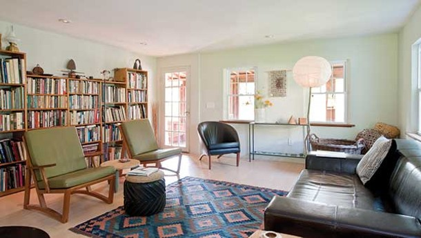 The living room, which features many pieces of furniture made by Puryear. - DEBORAH DEGRAFFENREID