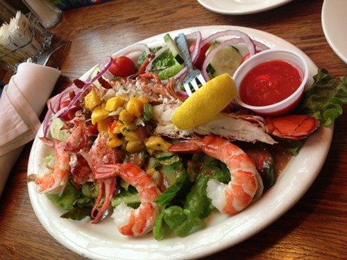 The Lobster Salad at Mariners Harbor